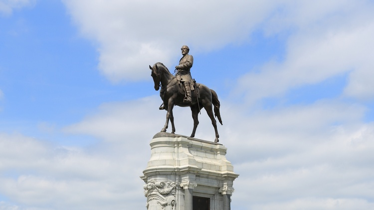 Statues of slave traders and Confederate leaders are being toppled or defaced during protests following the killing of George Floyd.