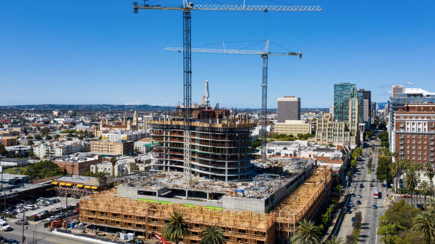 2900 Wilshire under construction.