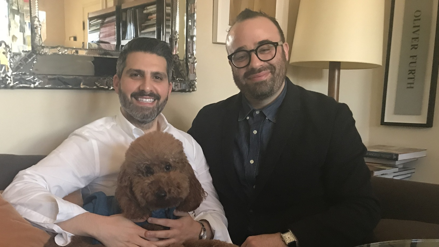 With Milan Furniture Fair postponed, Sean Yashar and Oliver Furth will be spending more time in LA with pet poodle Murphy.