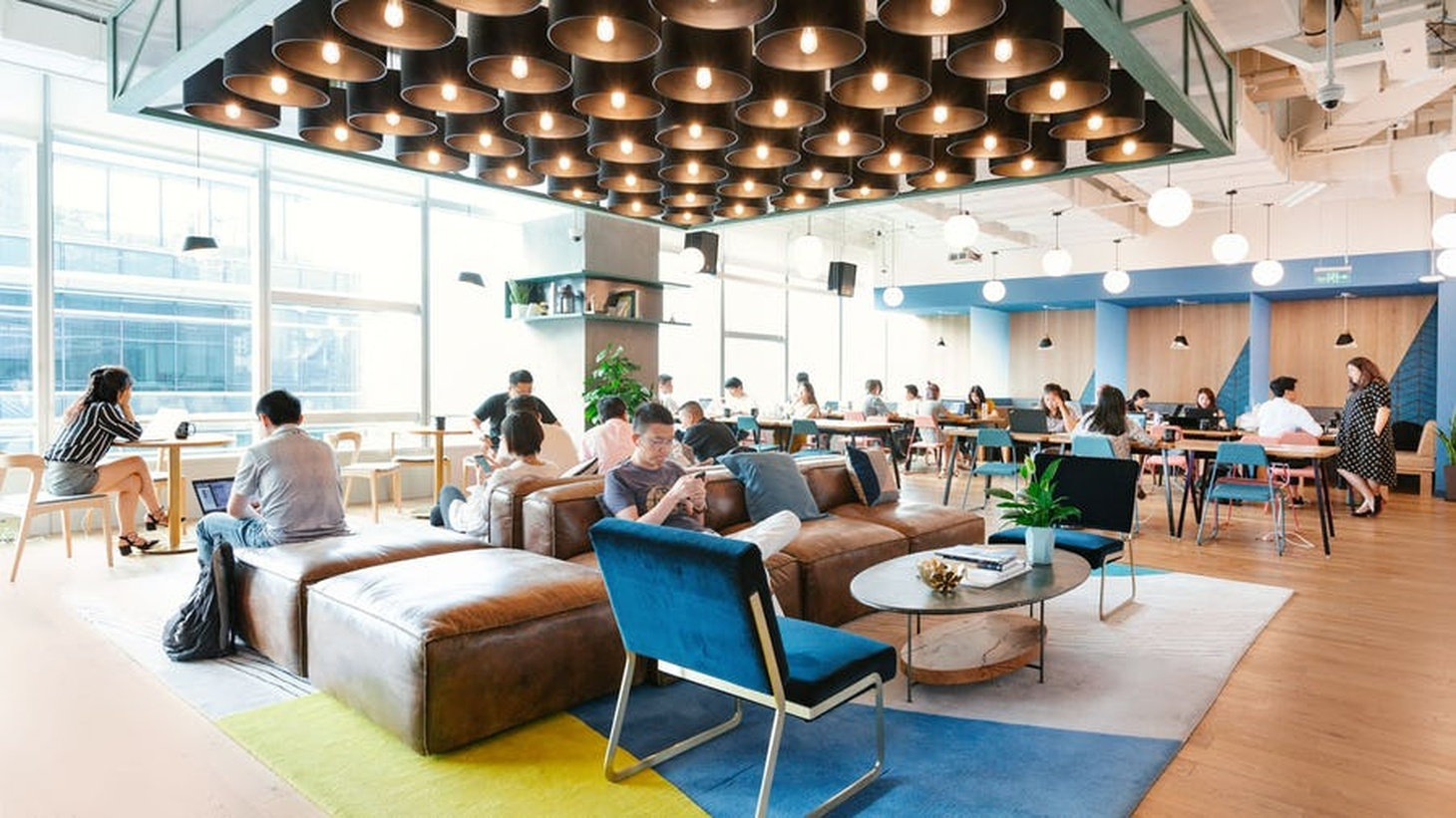 WeWork's coworking space The Maxwell is located in the former Maxwell House coffee warehouse in the Arts District.