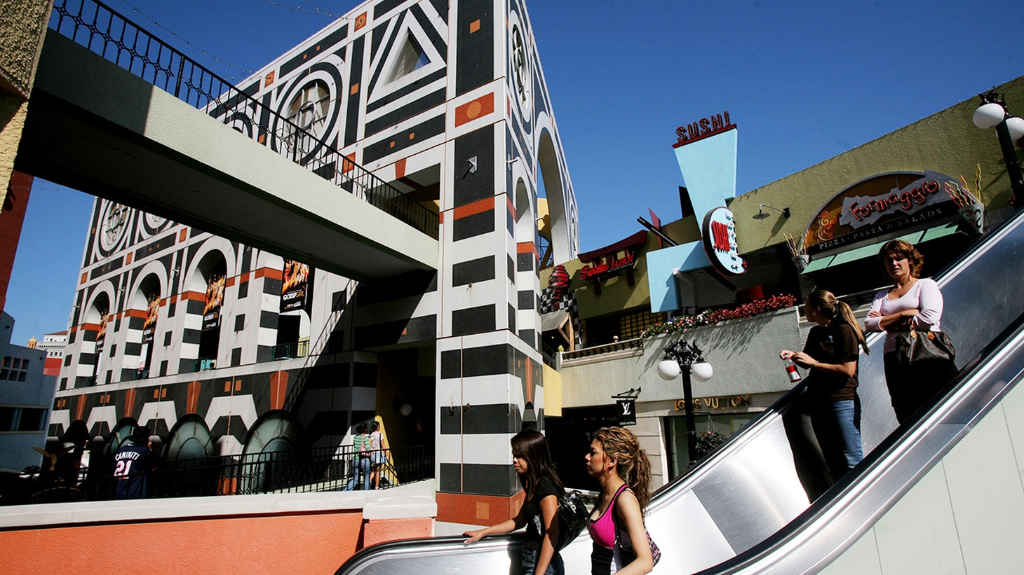 Horton Plaza was built in 1985 to revitalize downtown San Diego. Now Jon Jerde's postmodern icon is almost empty, awaiting change.