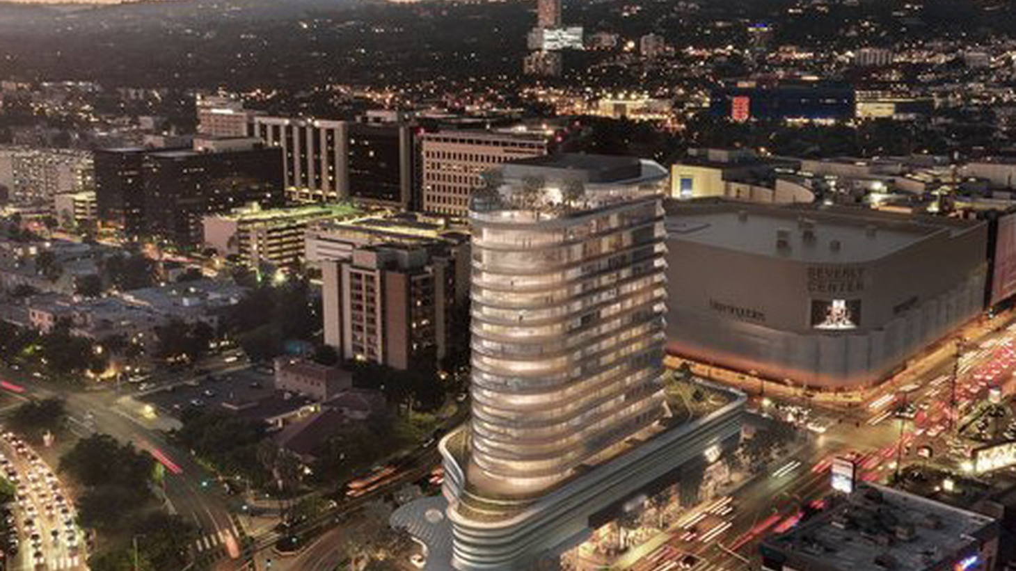 Los Angeles developer Rick Caruso's planned 145-unit luxury residential tower near the Beverly Center is moving forward, despite public opposition.