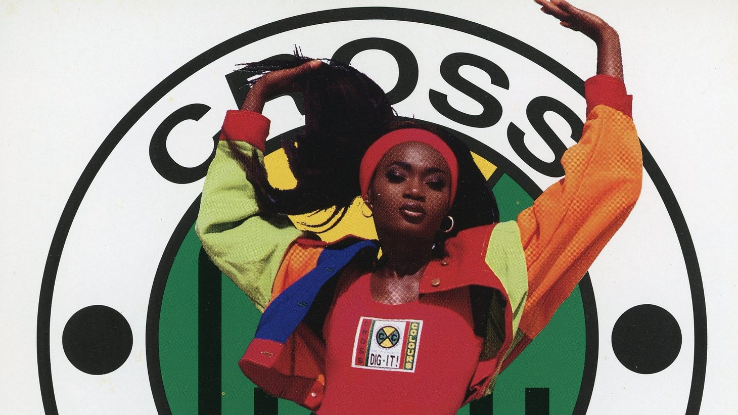 Cross Colours promotional featuring spokesmodel Sali, ca. 1992.