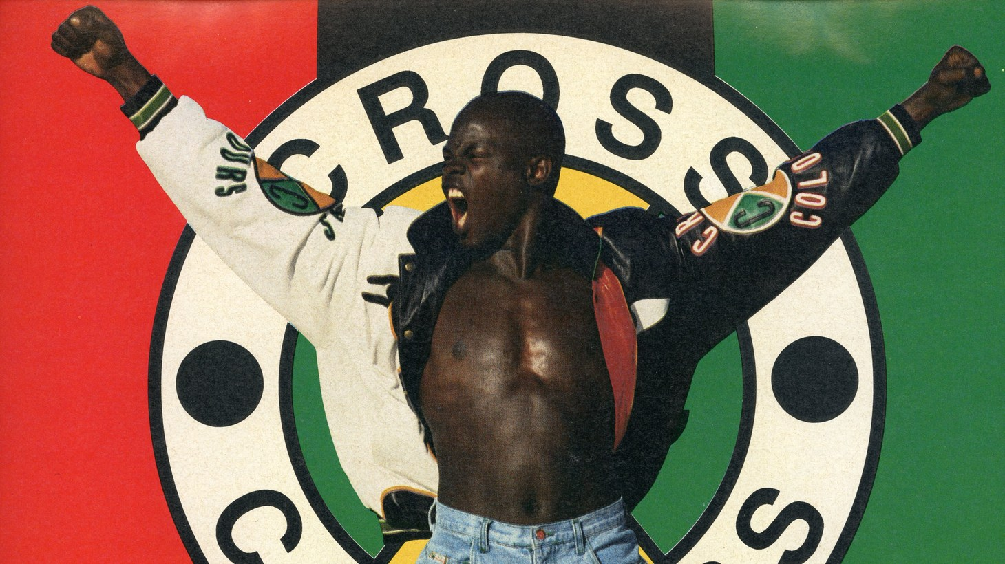 Cross Colours advertisement in URB magazine featuring Djimon Hounsou, ca. 1991.