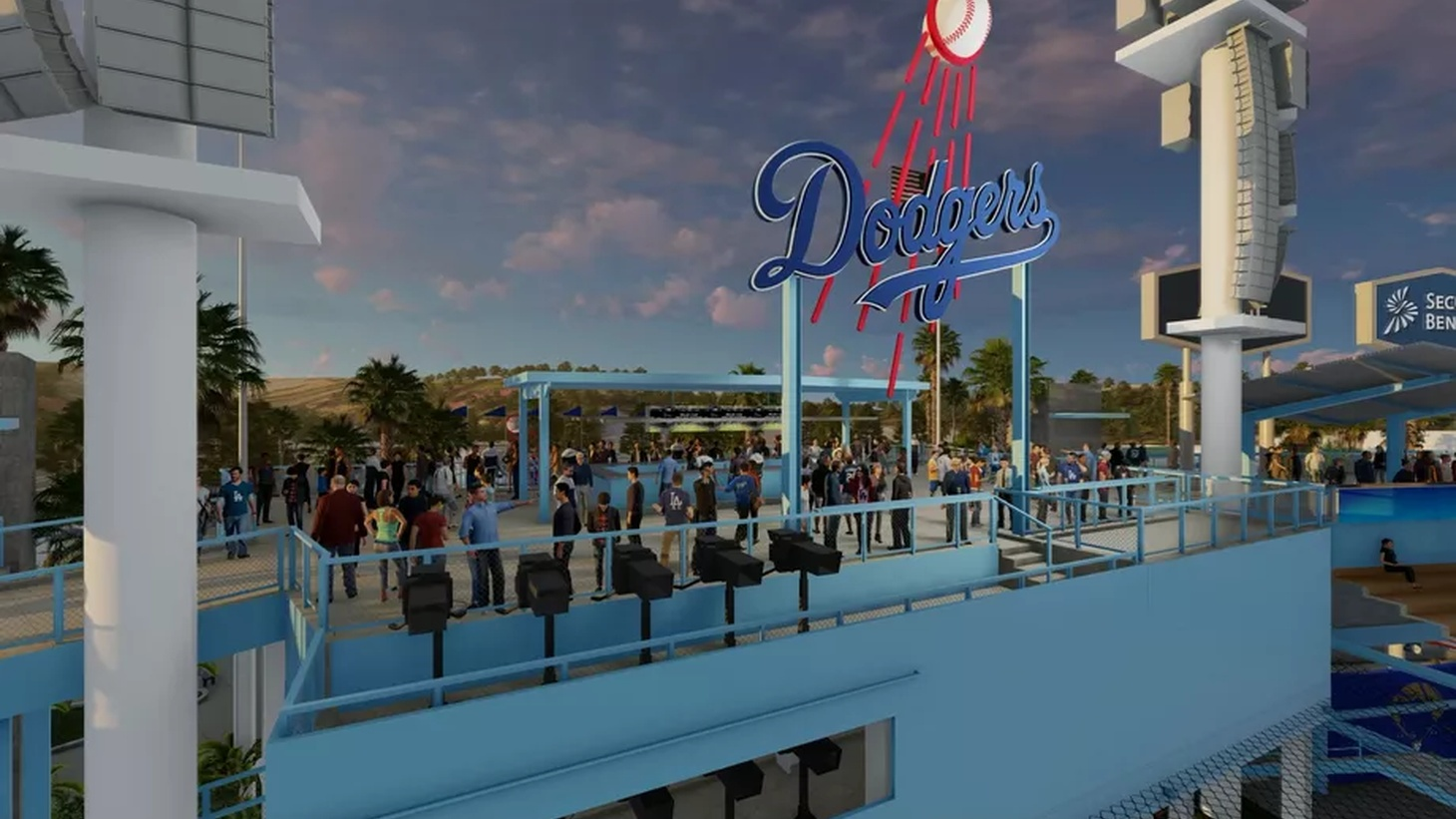 Dodger Stadium will receive $100 million in renovations, including standing room in the outfield.