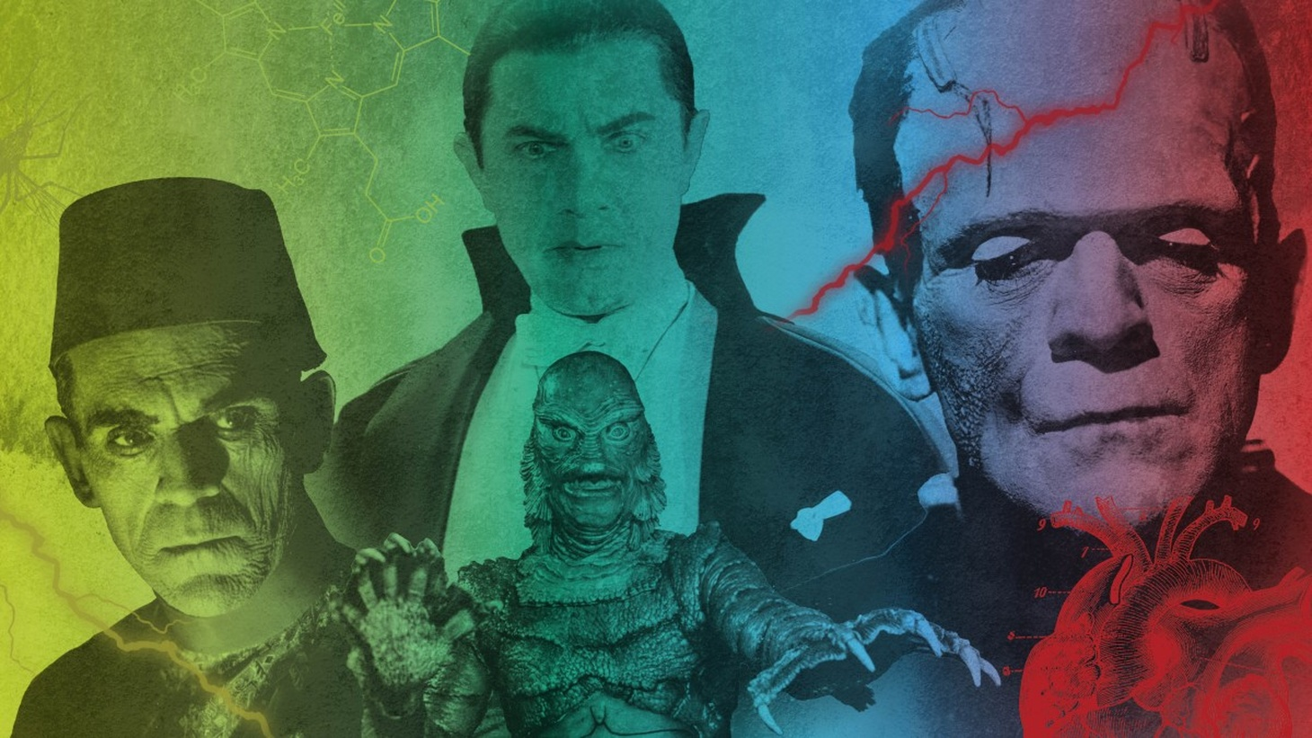 The Natural History Museum offers an up close look at the science behind classic horror films. Images from the iconic films, Creature from the Black Lagoon, Frankenstein, The Mummy, and Dracula.