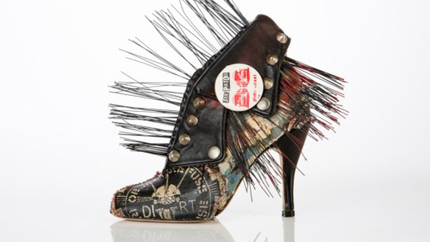 Currently on view at the  Craft and Folk Art Museum (CAFAM)  is an exhibition featuring the functional art footwear of Chris Francis.