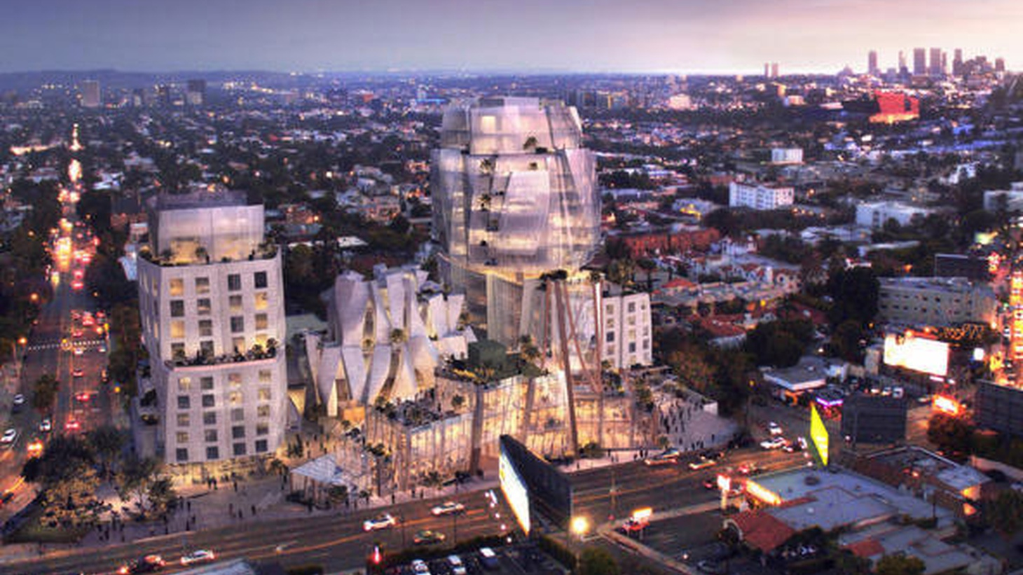 A Frank Gehry-designed project on Sunset Boulevard is moving forward, despite neighborhood opposition.