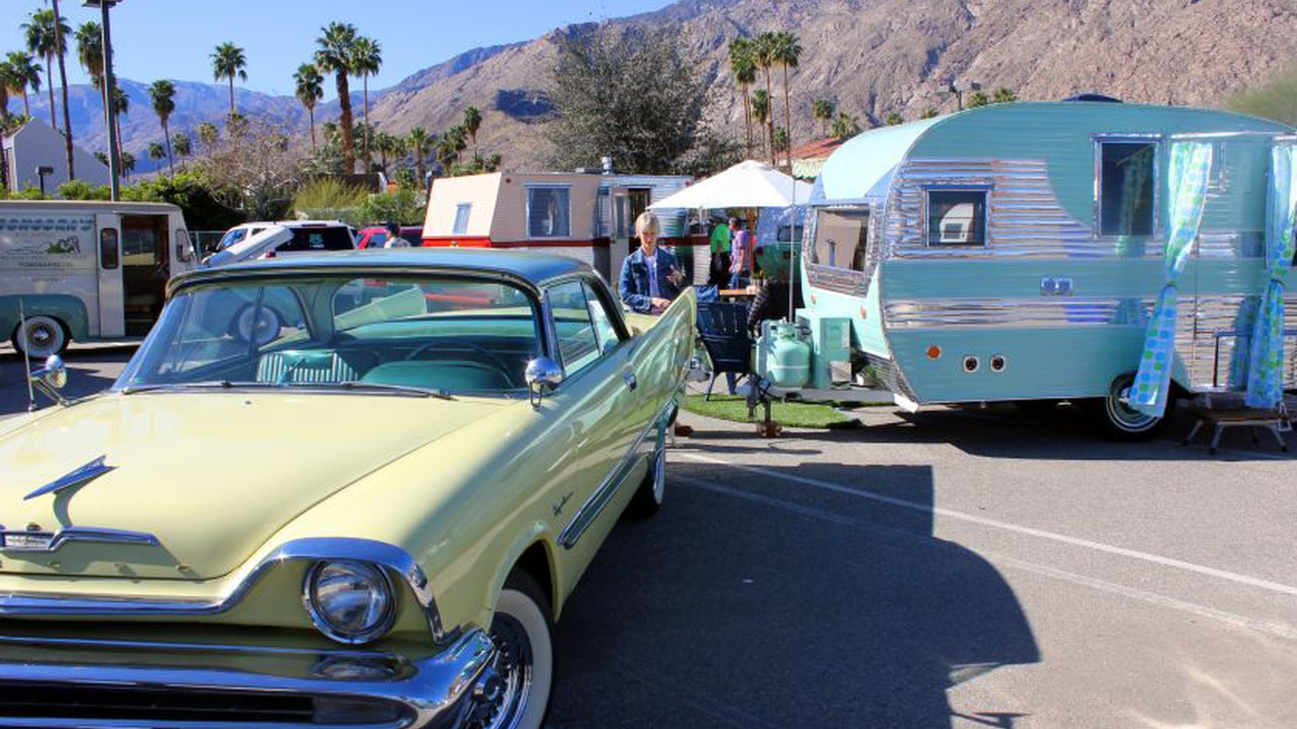 Modernism Week hold an annual Vintage Trailer Show.
