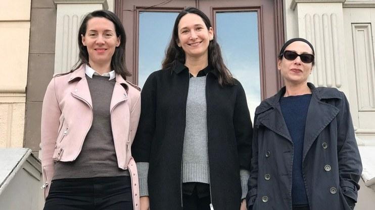 Frieze LA organizers, from left, Victoria Siddall, Bettina Korek and Ali Subotnick.