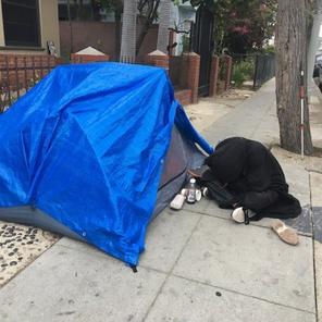 Home in LA, from the tent to the gigamansion