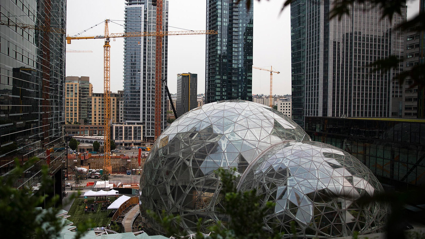 Amazon's headquarters in downtown Seattle Photo by Megan Farmer/KUOW 