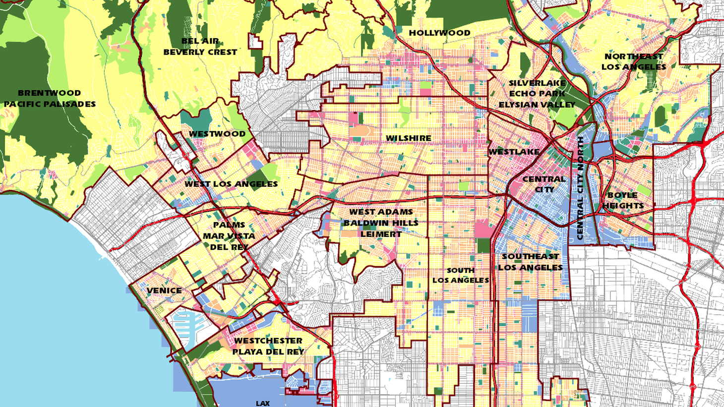 Zoning map from The Department of City Planning's Zone Information and Map Access System (ZIMAS)