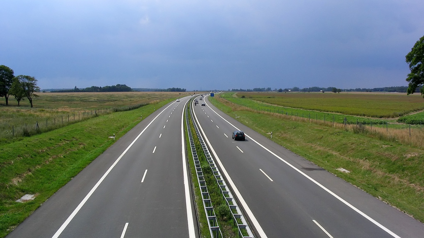 A stretch of the autobahn in Germany.