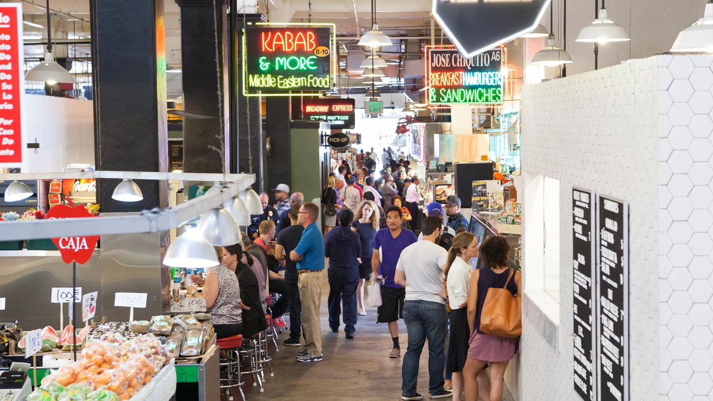 The cuisine and the look of Grand Central Market are changing; End of an era? Or a mix of vendors and cultures that shows LA at its best? Plus, we take a look at how software is revolutionizing skyscrapers and lawn wars in a California suburb.