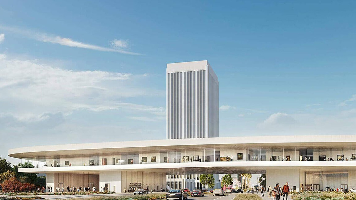 A new rendering of the Peter Zumthor design for LACMA.