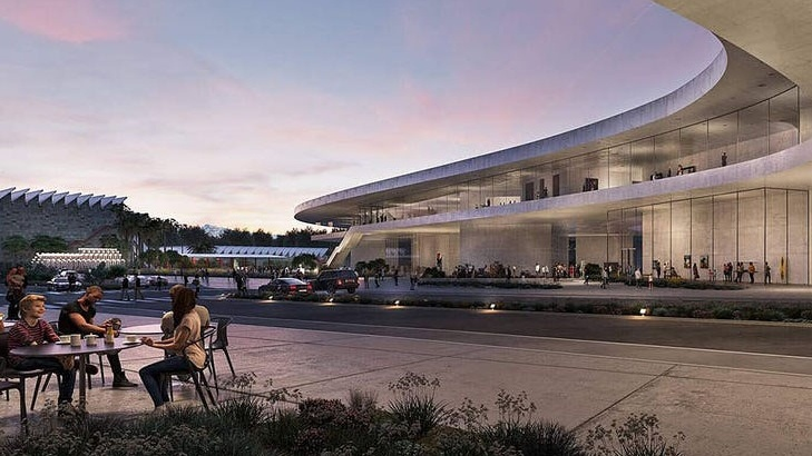 A rendering of the Peter Zumthor design for LACMA.