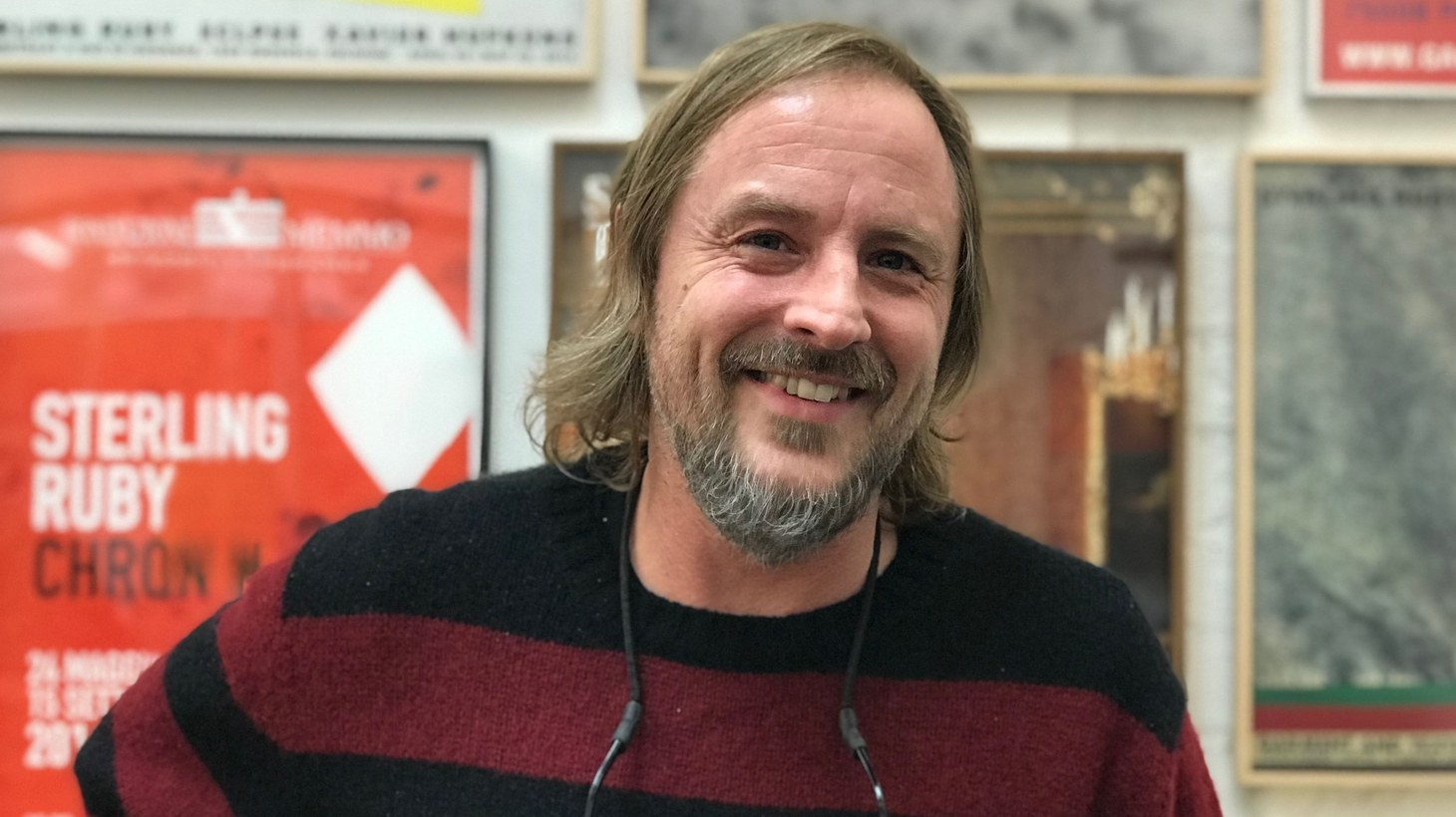 Sterling Ruby, at his studio in Vernon.