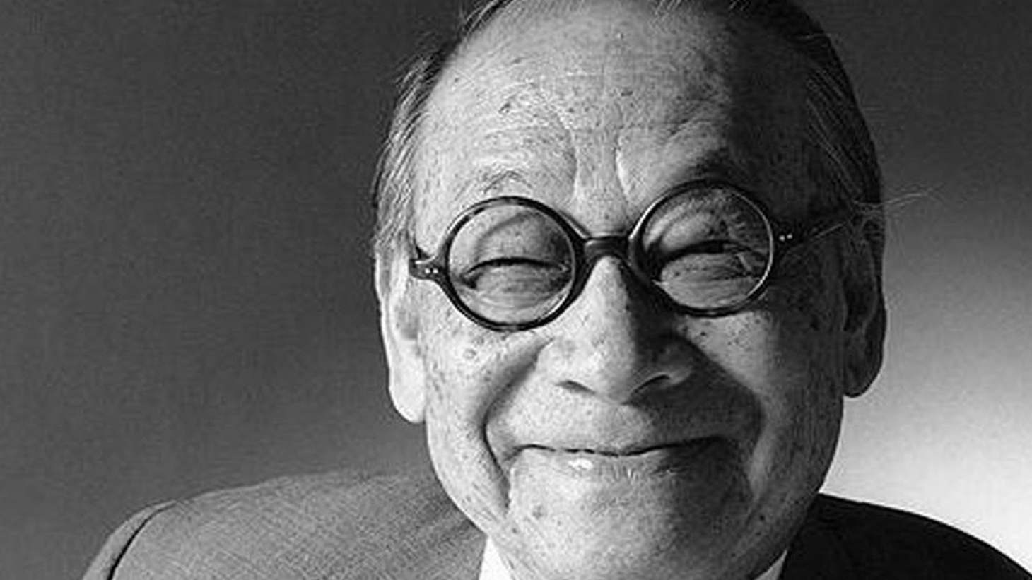 A portrait of Chinese-American architect I.M. Pei.