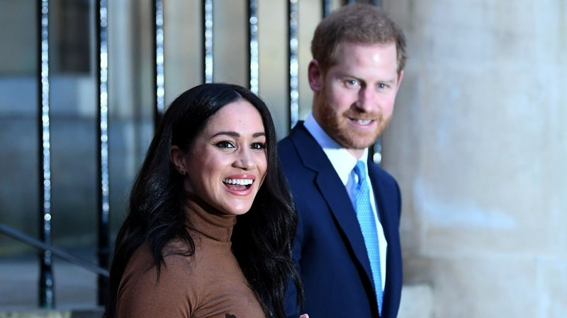 Prince Harry and Meghan, the Duchess of Sussex, seen here last week in London, conferred with other members of the royal family on Monday to discuss their status going forward.