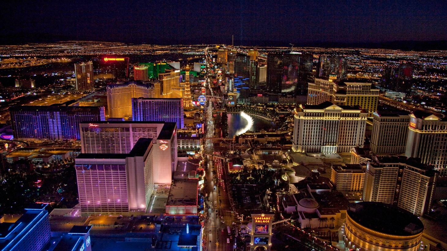 Las Vegas at night Photo by  Carol M.