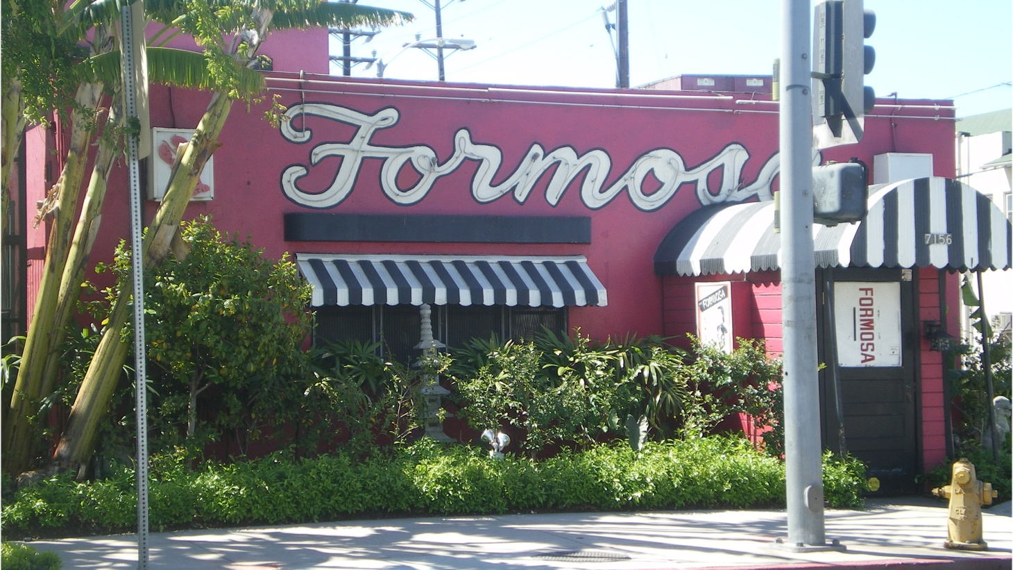 The Formosa Cafe on Santa Monica Boulevard.