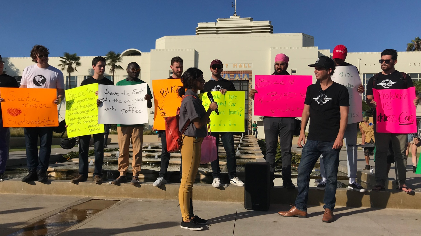 Santa Monica lawmakers are weighing a proposal that might result in taking e-scooter sharing companies Bird and Lime off the streets. The companies are fighting back and rallying their supporters.