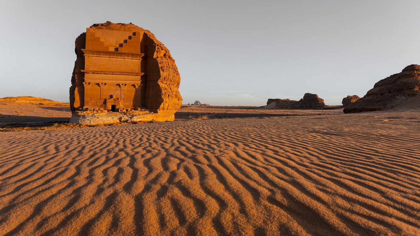 Qaṣr Al-Farīd, an archaeological site located in AlUla in Saudi Arabia, where Desert X is set to take place next year.