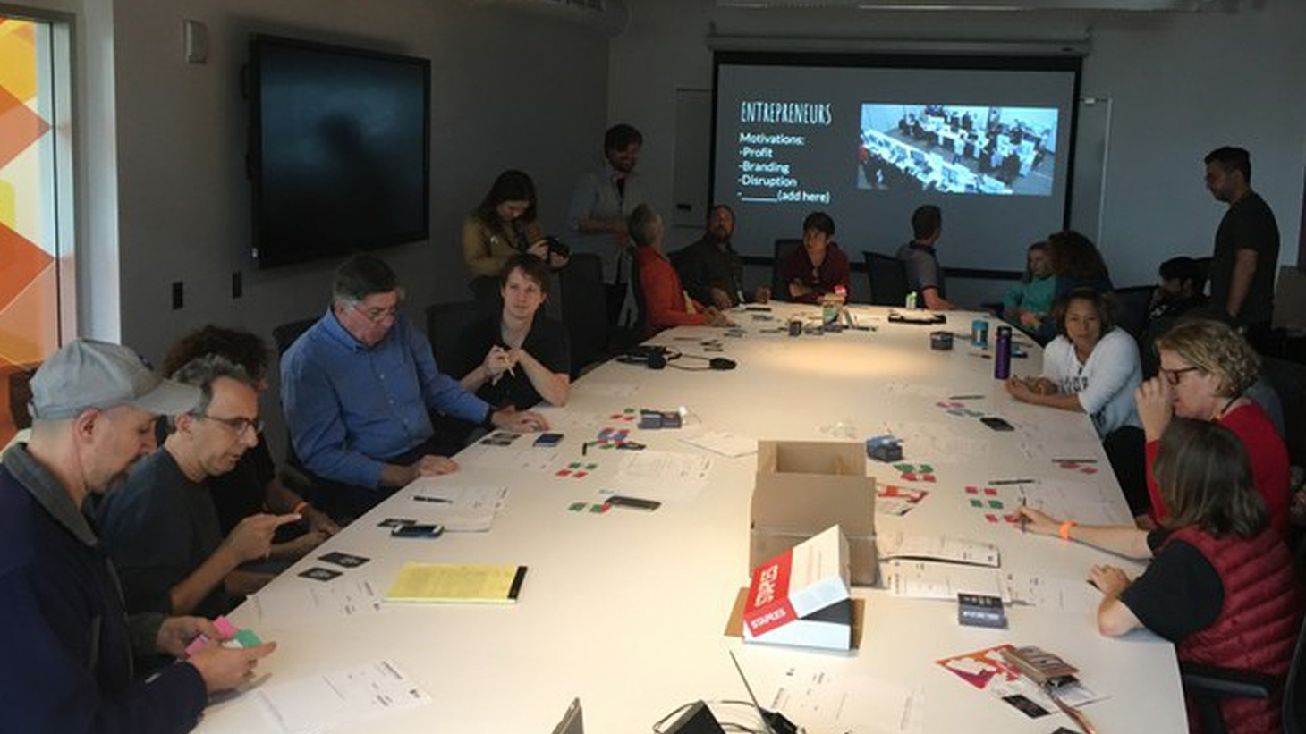 """Participants had fun coming up with radical new ideas of how we'll get around in the future at the """"Flipping the Bird!"""" event at IndieCade."""