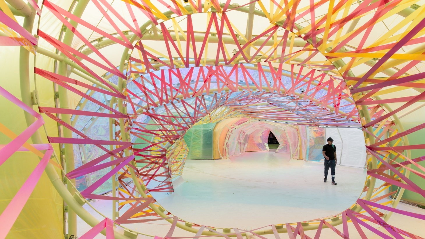 The interior of the Serpentine Pavilion by Selgascano.