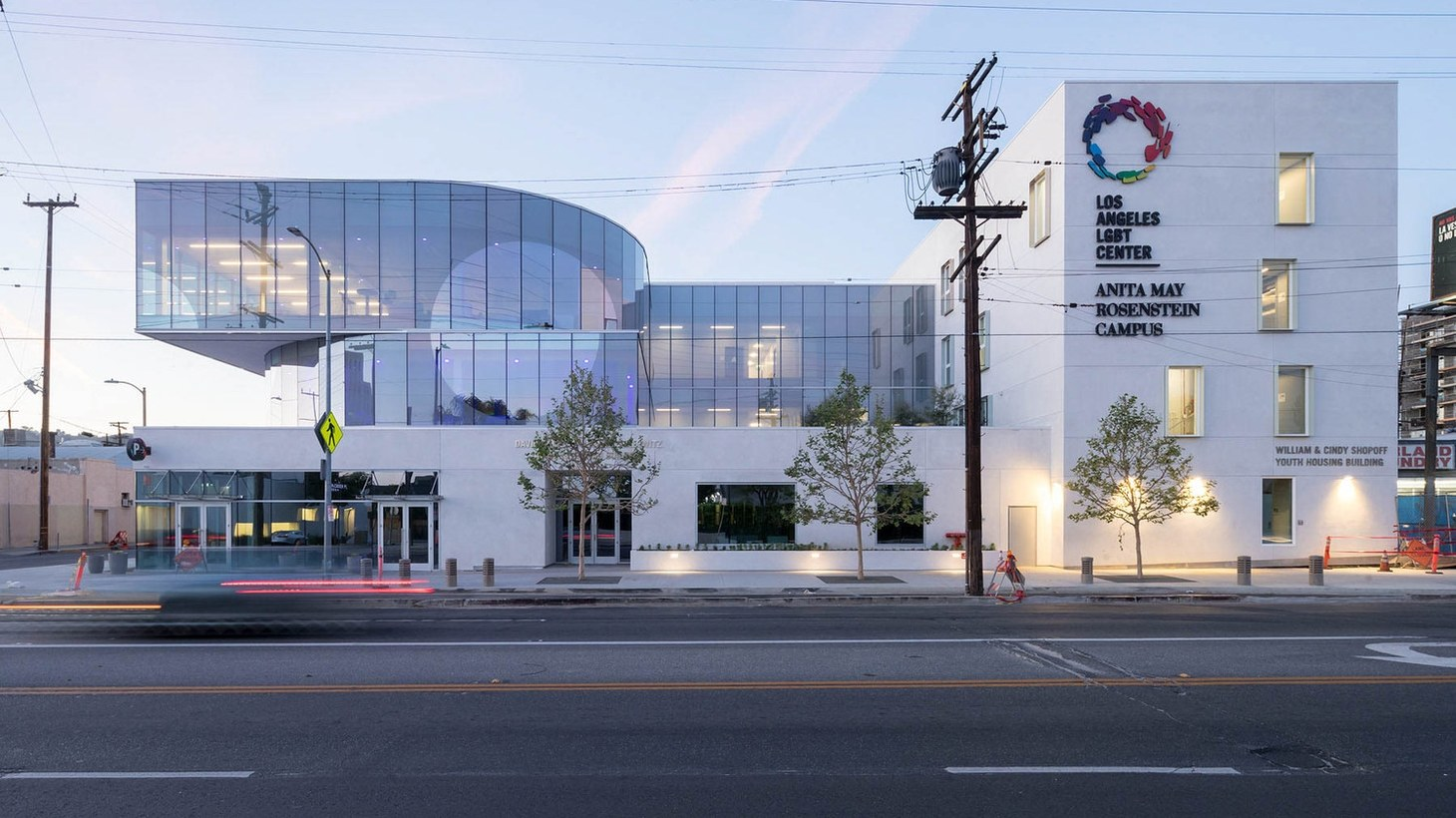 The LA LGBT Center's Anita May Rosenstein campus in Hollywood, designed by Leong Leong and Killefer Flammang Architects.