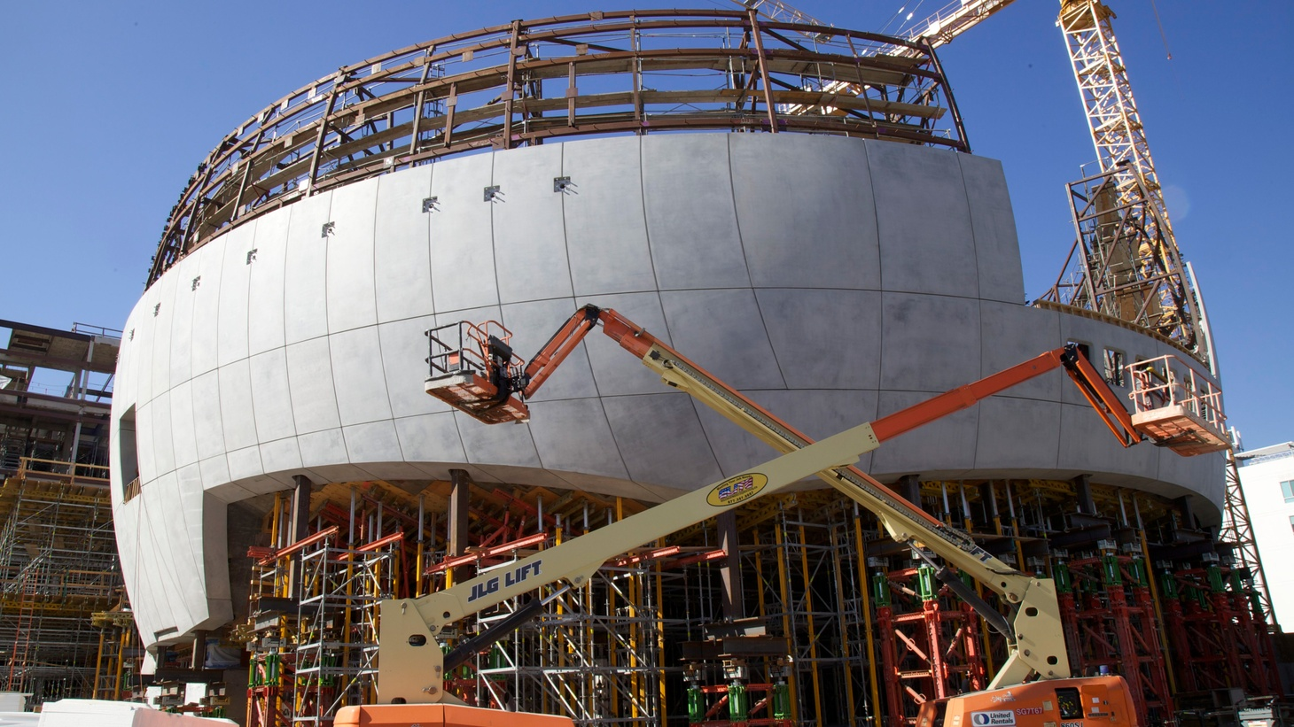 It's been a long time coming, and riddled with enough drama to fill a Hollywood movie. But today, the still-under construction Academy of Motion Picture Arts and Sciences Museum opened its doors for a close-up.