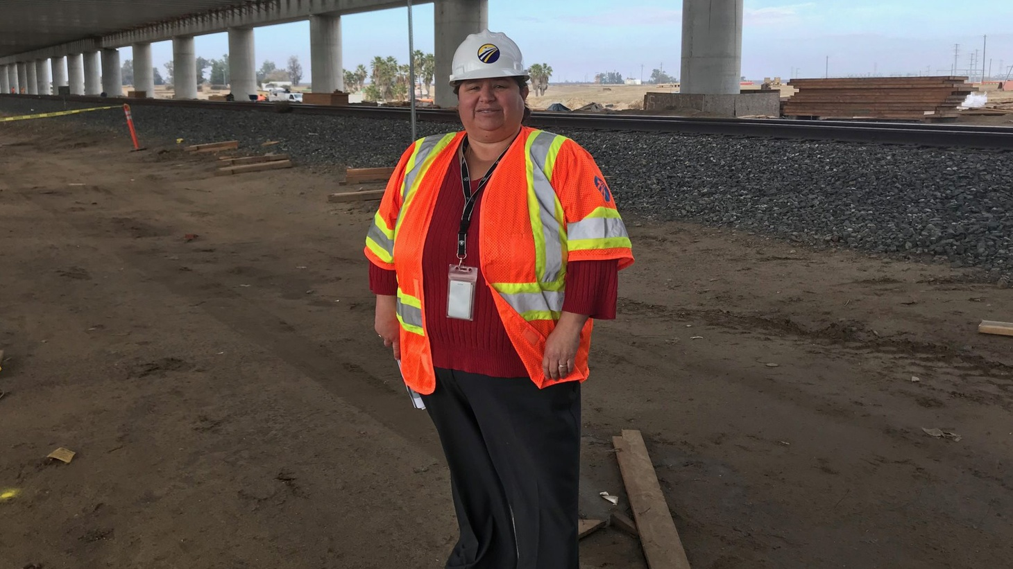 Diana Gomez, Central Valley regional director for the California High-Speed Rail Authority, oversees rail construction from Merced to north of Bakersfield.