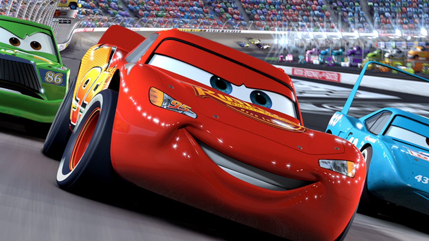 Cars 3 is about Lightning McQueen. This time the hotshot is a faded champion who yearns to win one more race. He's an intriguing hero for young audiences, a living legend and incipient geezer struggling to compete against a new breed of race cars.