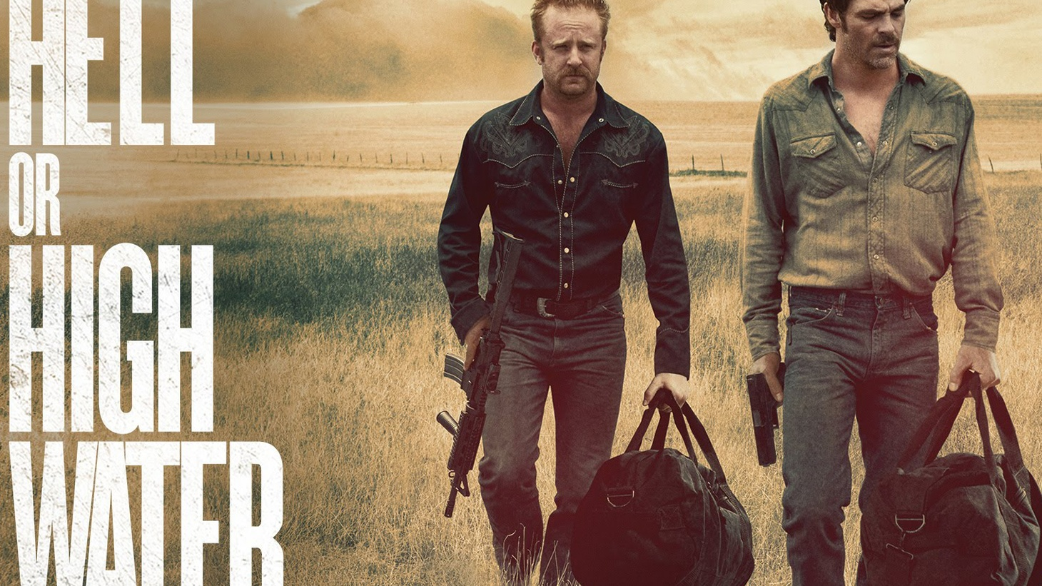 Hell or High Water is one of the most enjoyable films I've seen in a very long time, following two brothers on  a  bank-robbing spree in a desolate part of west Texas where the banks themselves are seen as robbers.