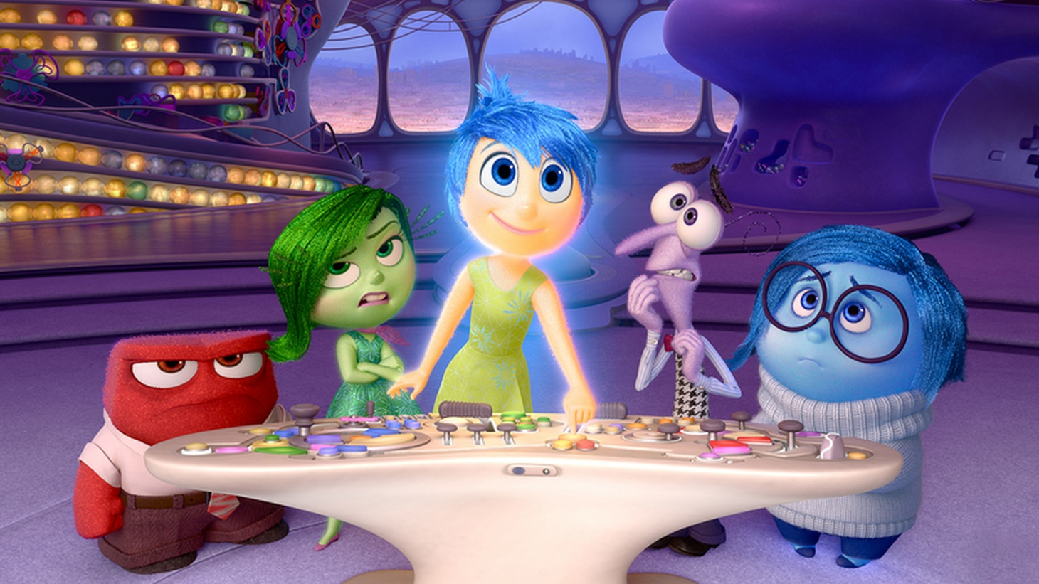 Actors use their faces, voices and bodies to convey what their characters are feeling, but the new Pixar film Inside Out takes a more direct approach.
