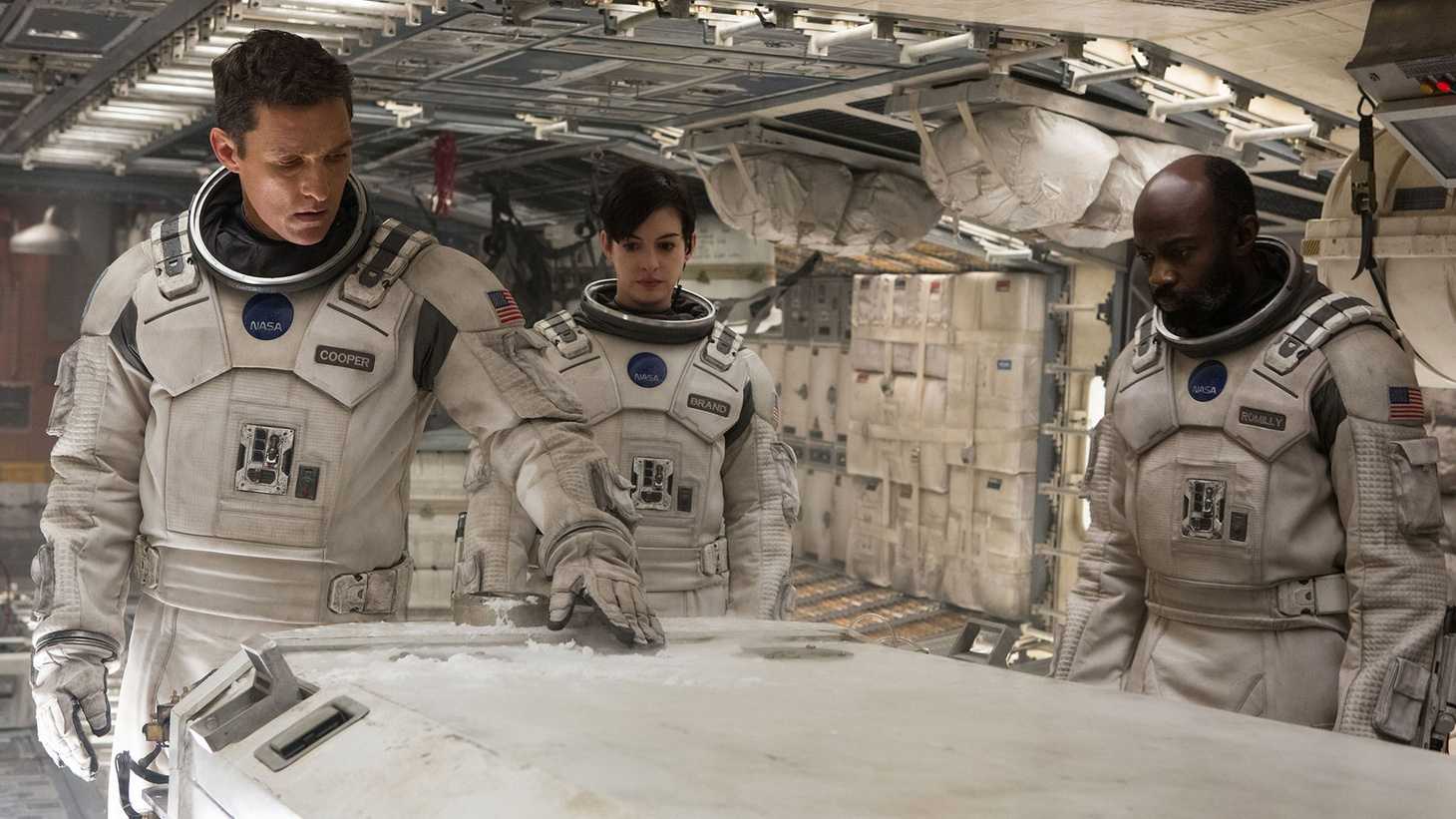 Joe Morgenstern reviews Christopher Nolan's 168-minute odyssey through the space-time continuum...