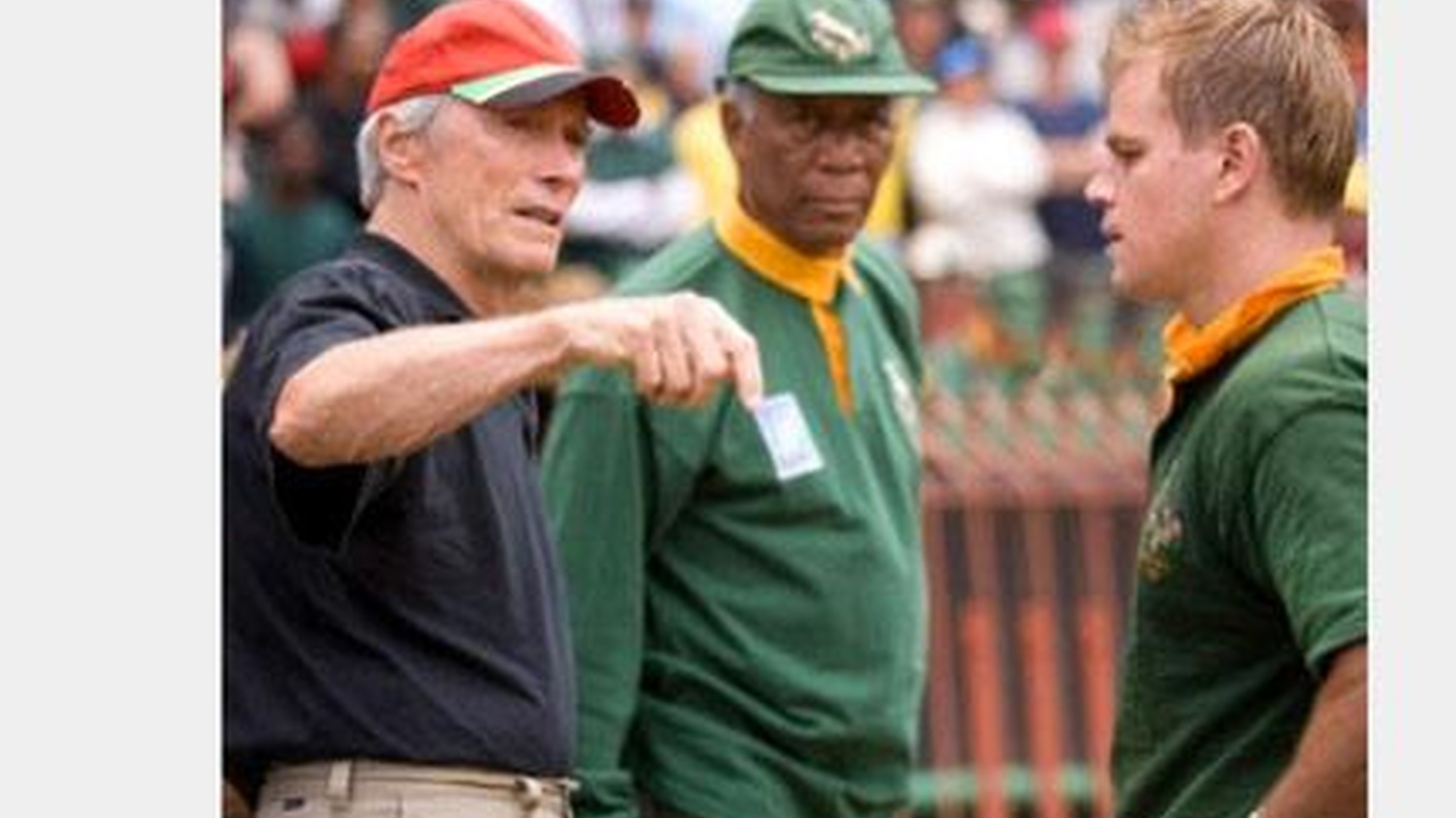 Until now, America's curiosity about rugby has been on a par with its knowledge, but this could change with the advent of Invictus... Clint Eastwood's new movie is an inspirational game played by Morgan Freeman as Nelson Mandela, and Matt Damon as the captain of a South African rugby team...  Peter Jackson's The Lovely Bones was adapted from Alice Sebold's widely admired novel. The movie, like the book, is party set in an Inbetween that occupies an ethereal space between heaven and earth; it's the vantage point from which the young heroine watches over her family after her death at the hands of a monstrous pervert...