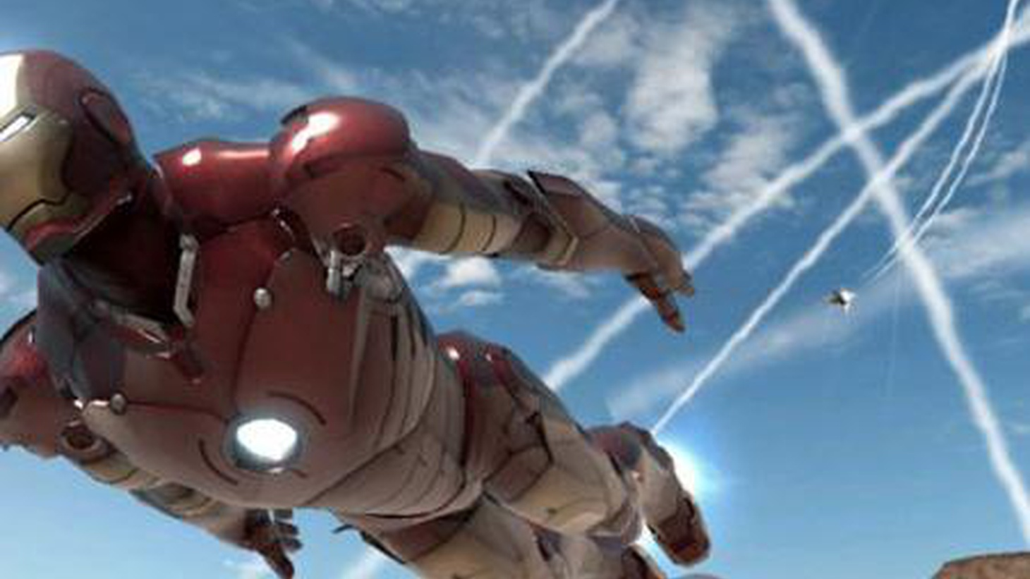 """Tony Stark creates a new element in """"Iron Man 2,"""" though it's no big deal. Robert Downey Jr.'s zillionaire genius, who was revealed to be Iron Man at the end of the previous film, simply builds himself an in-home particle accelerator, fires it up and then bango, he's got a...new element. This sequel, unfortunately, settles for a new alloy of old elements - less iron, lots more lead and tin."""