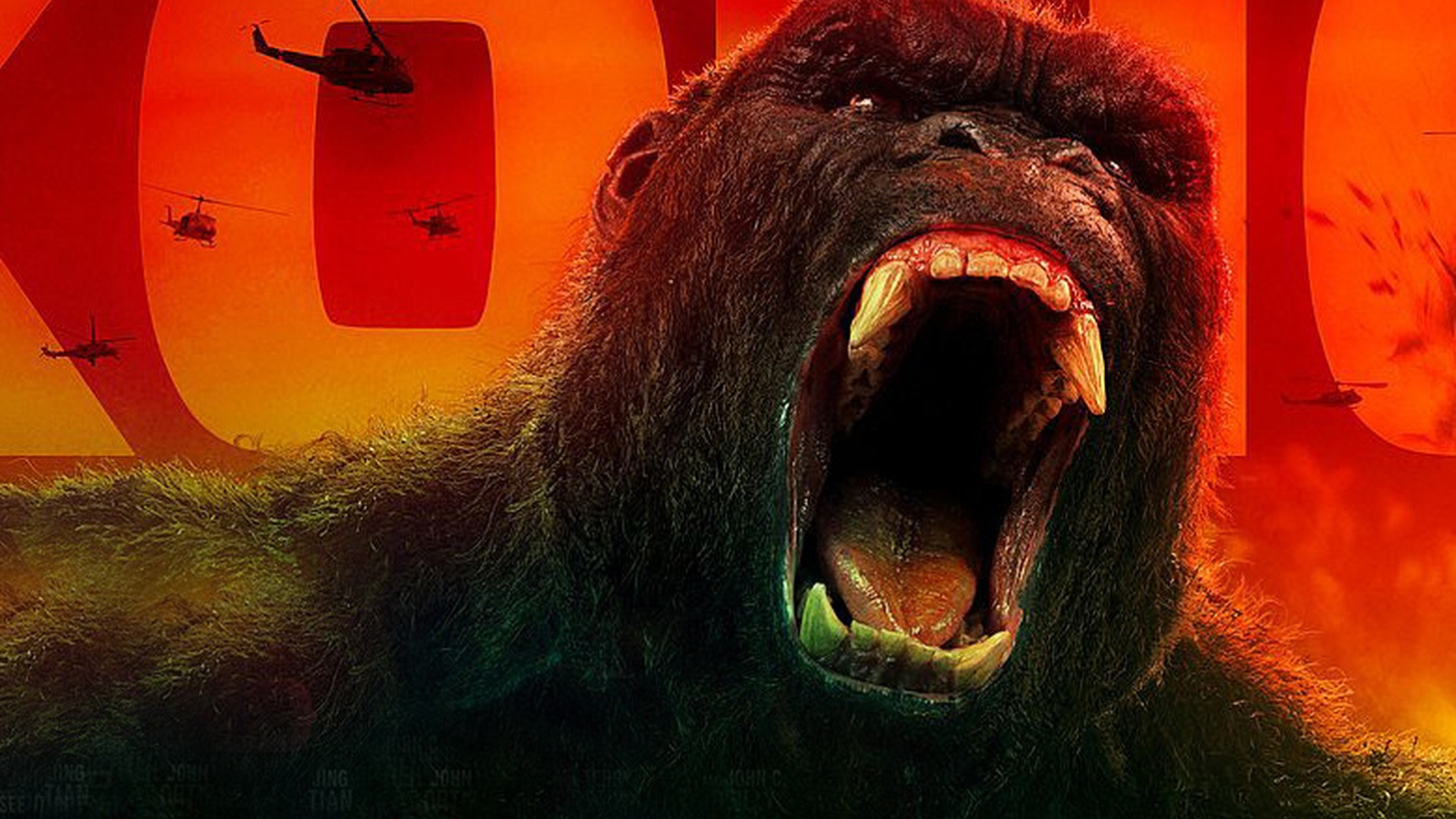 In the new action adventure Kong: Skull Island, a bunch of scientists and explorers go looking for the latest incarnation of King Kong.
