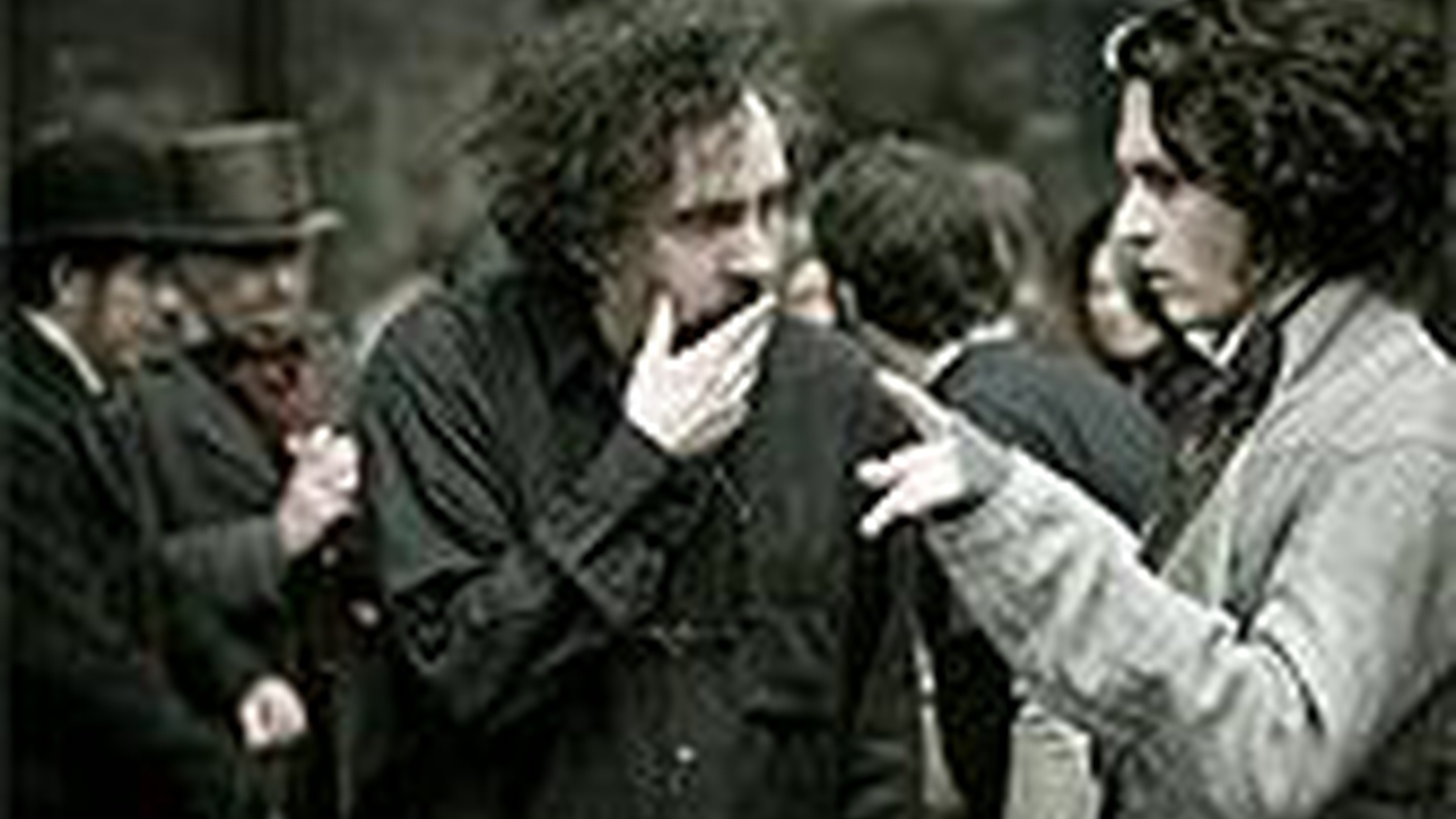 Tim Burton's brilliant blood-soaked screen version of Sweeney Todd stars Johnny Depp and Helena Bonham Carter. The movie begins with sticky globules of blood on the wheels and cogs of what can only be [gulp] a meat grinder... By now we know the nature of the meat and the gist of the ghastly story...