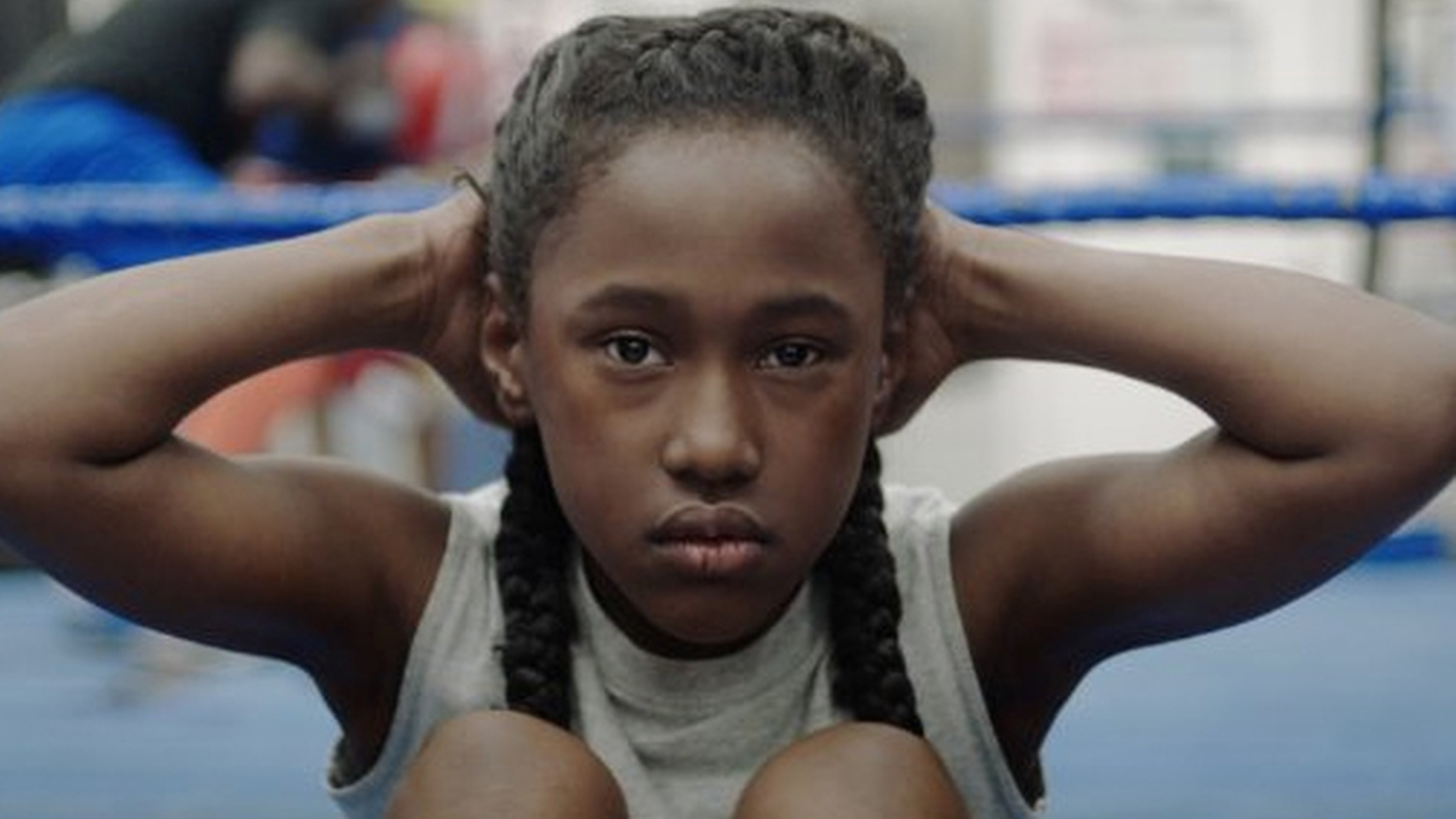 A wonderful little movie,The Fits opens on an 11-year old doing sit-ups -- 25 in all, hands clasped behind her head, radiant face to the camera.
