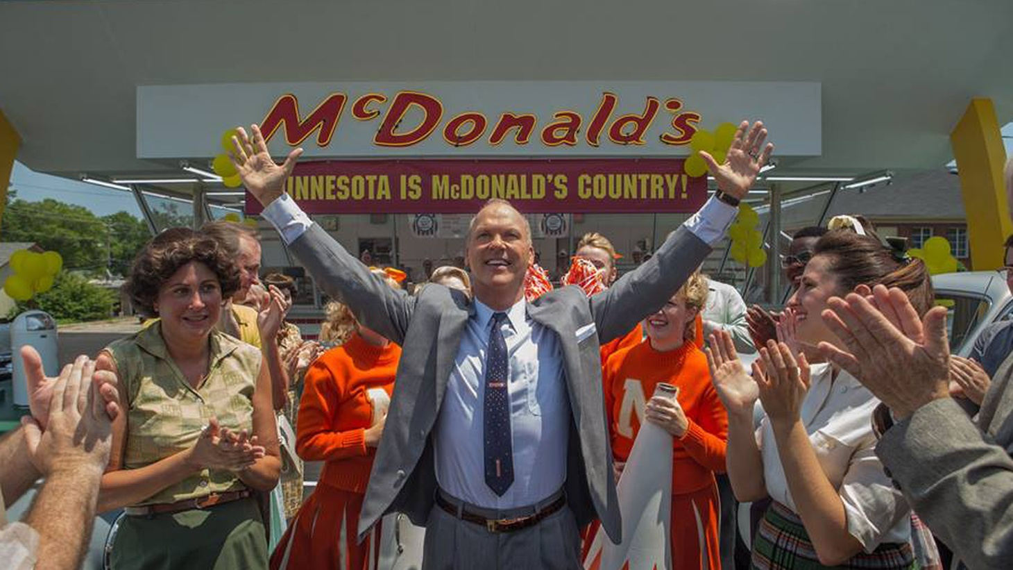 Michael Keaton plays Ray Kroc, the entrepreneur who gave the world McDonald's -- and Keaton does it with panache.