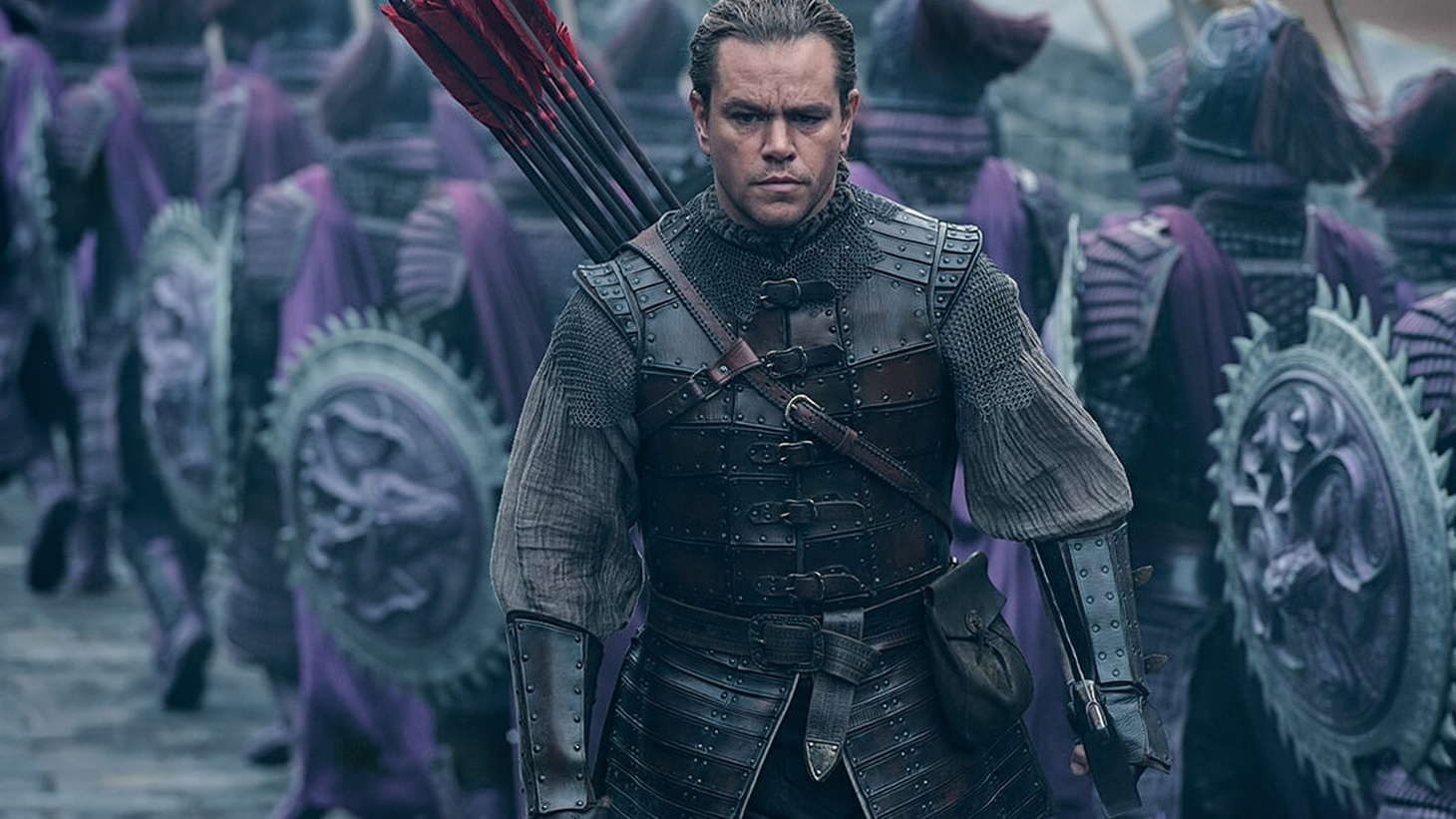 There is no lack of spectacular sequences in The Great Wall. It's the most expensive movie ever produced in China, with fancy weaponry that's meant to show how technologically advanced the Inner Kingdom was.