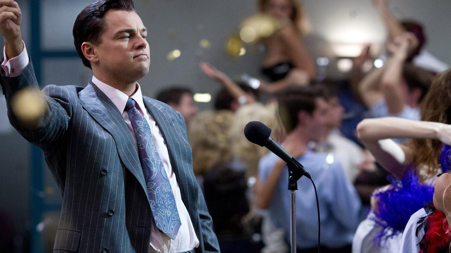 """In """"The Wolf of Wall Street"""" Leonardo DiCaprio plays Jordan Belfort, the celebrated crook of the 1990's"""