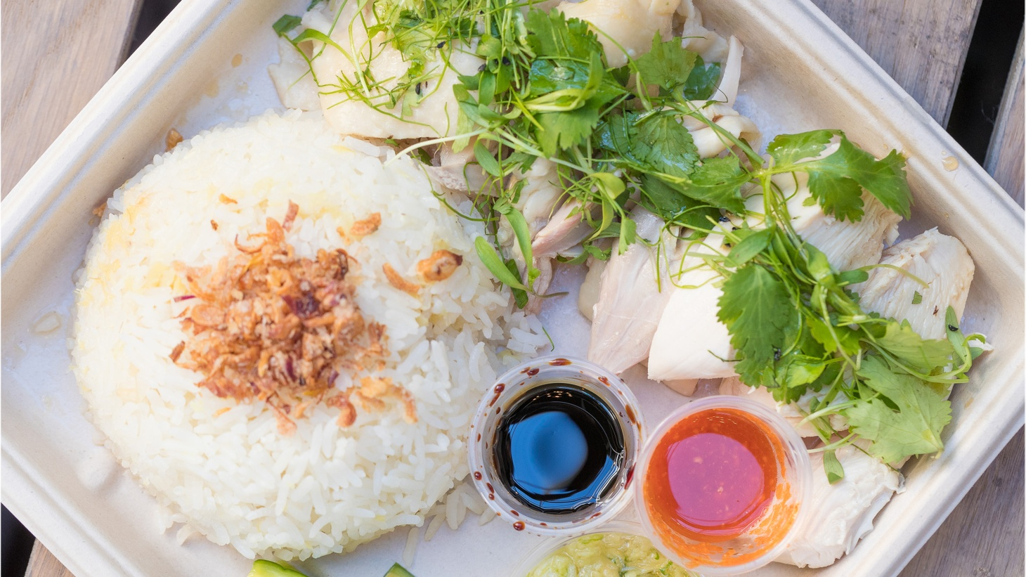 LA Times food critic Jonathan Gold wanders the Westfield Santa Anita Mall in Arcadia this week in search of the classic Hainan chicken rice.