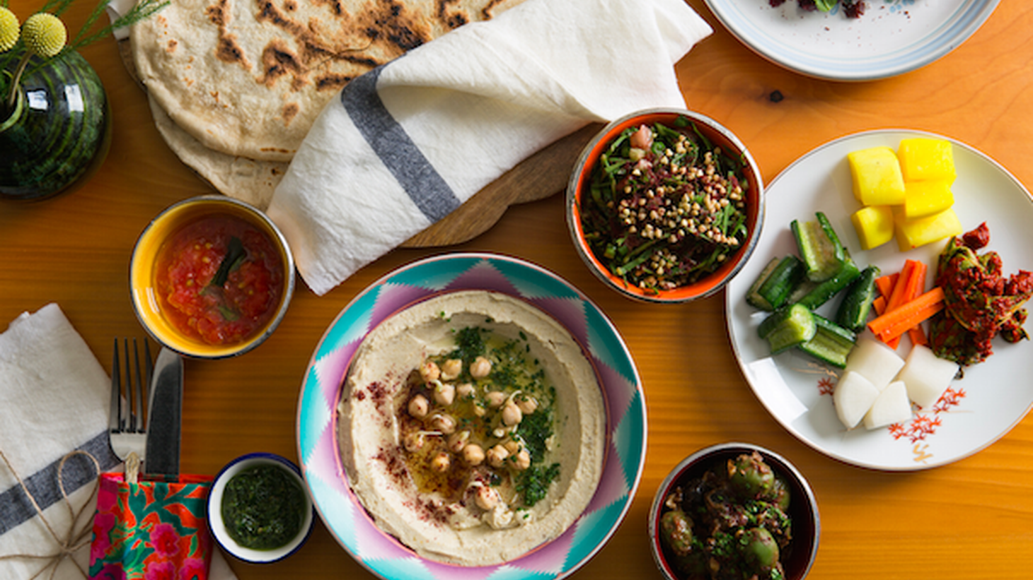 According to Jonathan Gold, the amba aioli at Israeli-inspired The Exchange is the new Thousand Island dressing.