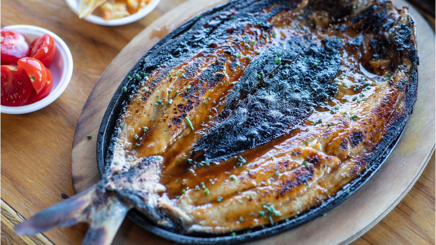 Milkfish inihaw at Ma'am Sir, one of Evan Kleiman and Zach Brooks' favorite restaurants of 2018