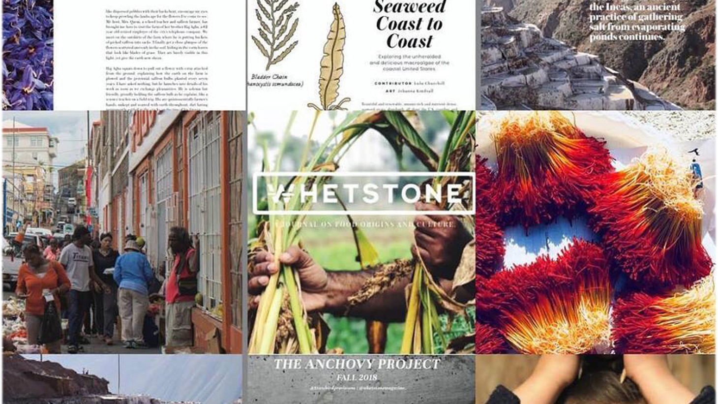Whetstone Magazine publishes stories and images of food origins from around the world, including a recent spread on a saffron harvest in Qa'en, Iran