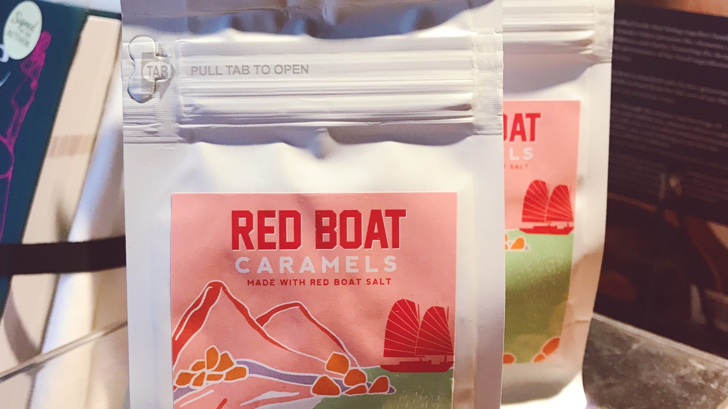 Red Boat Fish Sauce Caramels at cookbook store Now Serving LA.